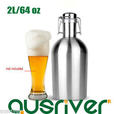 Portable Stainless Steel 2L/64 oz Mini Beer Keg Wine Water Bottle Flask XmasGift