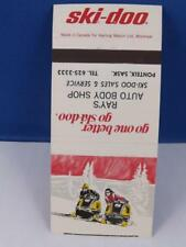 SKI-DOO SKI DOO SNOWMOBILE DEALER MATCHBOOK RAY'S AUTO BODY PONTEX SK VINTAGE