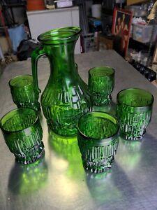 Vintage Mid Century Italy Glass  Drinks Set