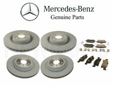 NEW Mercedes X166 GL-Class Front & Rear Brake Disc Rotors with Pads Kit Genuine