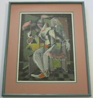 MARC CHAGALL PAINTING HAND COLORED LITHOGRAPH  ABSTRACT  EXPRESSIONIST MODERNIST