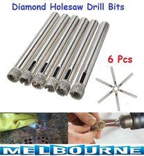6x Diamond Holesaw 6mm Tile Ceramic Glass Slate Porcelain Marble Drill Bits Tool