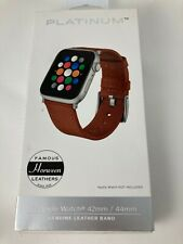 Platinum Horween Leather Band Strap for Apple Watch 5 4 3 2 44mm 42mm Copper tan