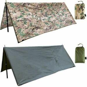 LARGE RIPSTOP BASHA 2 man shelter tarp camo bivi bike tent stealth wild camping