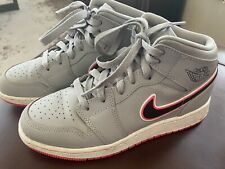 New listing Girls Jordan 1 Gray Pink Laces Size 4 Youth ~ Nice ~