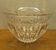 vintage lead crystal serving bowl