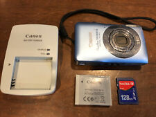 Canon PowerShot ELPH SD1300 IS 12.1 MP Digital Camera - Blue w Charger SD Tested
