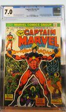Captain Marvel #32 CGC 7.0 Origin of Drax Comic