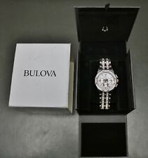 Bulova Octava 98C133 Two Tone Stainless Steel Swarovski Pavé Dial Men's Watch