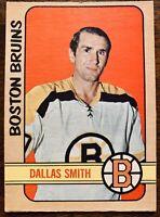 1972 73 O PEE CHEE OPC HOCKEY #21 DALLAS SMITH NM/MT BOSTON BRUINS CARD