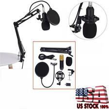 Bm800 Dynamic Condenser Microphone Sound Studio KTV Singing Recording W/ Mount