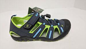 Kamik Crab Sport Sandals, Gray/Blue/Lime, Big Kids 5 M