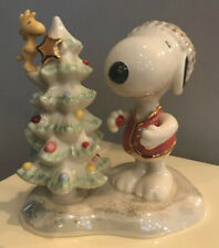 Lenox Peanuts Snoopy'S Christmas Traditions Woodstock Tree Figurine w Box 2004