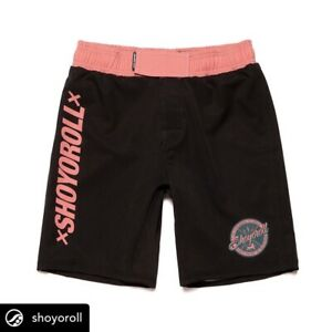 Shoyoroll Shorts L Comp 20.2, Size LARGE, Black & Pink (Salmon) *Brand New*