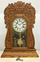 Antique WATERBURY U.S.A Cottage Kitchen Mantel Clock #1538