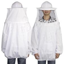 Beekeeping White Suit Protective Bee Veil Mask Smock Jacket Coat Equipment CP