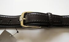 $700 NEW BRIONI Limited Edition Brown Hand Made Leather Belt 38 US 54 EU 100 CM