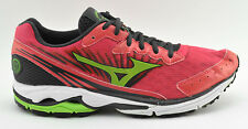 WOMENS MIZUNO WAVE RIDER 16 RUNNING SHOES SIZE 11 US GRAY RED WHITE GREEN