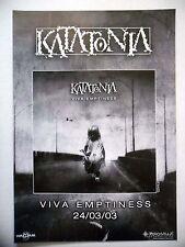 """PUBLICITE-ADVERTISING :  KATATONIA  2003 pour la sortie de """"Viva Emptiness"""""""