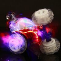 Turbo 360 Twister Rc Stunt Car with Flashing Lights rechargeable blue / red