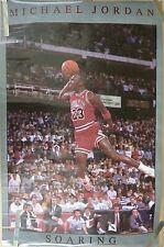 RARE MICHAEL JORDAN BULLS  SOARING 1988 VINTAGE ORIGINAL NBA STARLINE POSTER