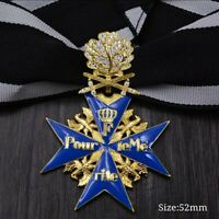WW1 Prussian German Blue Max Pour Le Merite Oakleaves Swords with diamonds Medal