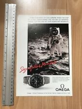 Omega Speedmaster Moon 1987 Advertisement Pub Ad Werbung