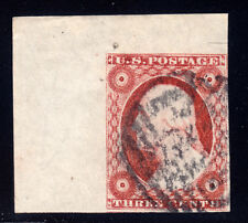 #11A - 3 Cent 1851-57 JUMBO 1L2L, with guide dot left, IFL recut, black PAID ccl
