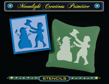Primitive Stencil~SNOWMAN'S MAGIC HAT~Vintage Style~Winter Holiday Magical Fun