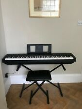 More details for piano digital yamaha p45 black with l85 matching stand and piano stool