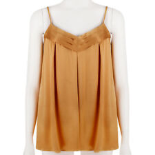 Derek Lam Sunset Orange Silk Satin Camisole Top UK10 IT42