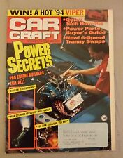 Car Craft Magazine - January 1994 - Engine Builders Secrets  Parts Buyer's Guide