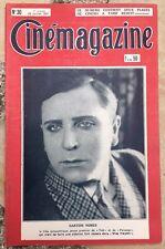 CINEMAGAZINE n°30 Gaston Nores LE CINEMAPHONE Autour de Napoléon 1927