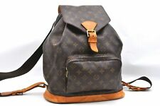 Authentic Louis Vuitton Monogram Montsouris GM Backpack M51135 LV A3191