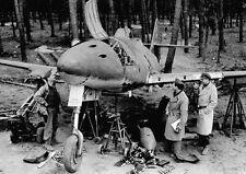 WW2 Photo WWII  Captured German Me262 Jet  Germany 1945 World War Two  / 4159