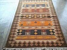 Hand Woven Wool Rug Turkish Kilim Dhurrie Afghan Oriental Area Rug 4'X6' ft