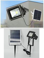 LED Solar Powered Dusk-to-Dawn Waterproof Outdoor Path Security Flood Light New