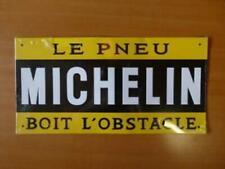 PB45F PLAQUE PUBLICITAIRE tolée age d'or Automobile : Le Pneu MICHELIN