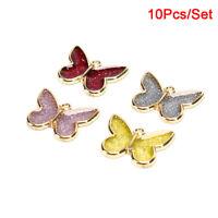 10Pcs/Set Alloy Enamel Butterfly Charms Pendant Finding DIY Making Jewelry Cr_hc