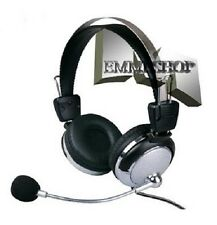 CUFFIA HEADSET STEREO CON MICROFONO PER PC NOTEBOOK SKIPE MSN AUDIO TV mshop