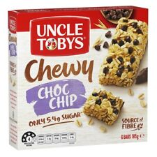 Uncle Tobys Chewy Bars Choc Chip 185g