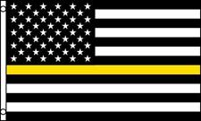 Enforcement Officer Thin Yellow Line 3X5 Flag Fl746 3 X 5 hanging polyester