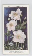 1939 Wills Garden Flowers by Richard Sudell #3 Anemone Japonica Card 1x2