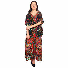 Paisley Hippie Boho New Women Caftan Kaftan Maxi Casual Dress