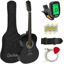 Best Choice Products 38in Beginner Acoustic Guitar Starter Kit W/ Case Strap D