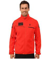 Spyder Men's Alps Full Zip Mid Weight Core Sweater Size S, Volcano, NWT