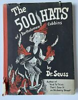 1938 Dr. Seuss The 500 Hats of Bartholomew Cubbins HCDJ