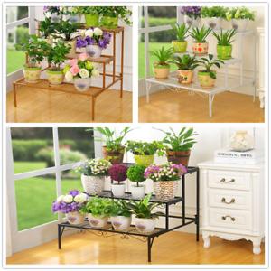 Metal Outdoor Indoor Pot Plant Stand Garden Quality Metal 3 Tier Planter Shelves