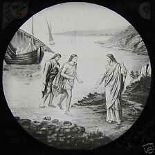 Glass Magic Lantern Slide THE CALLING OF JAMES & JOHN C1900 CHRISTIAN RELIGION