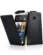 Etui à rabat noir HTC One Mini avec fermeture magnétique